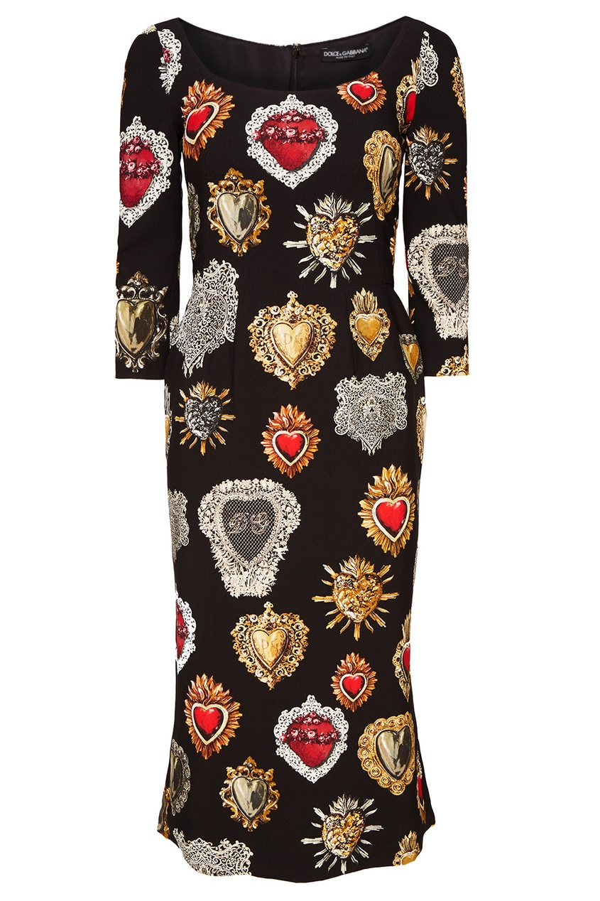 Dolce&Gabbana Платье-миди с контрастным принтом