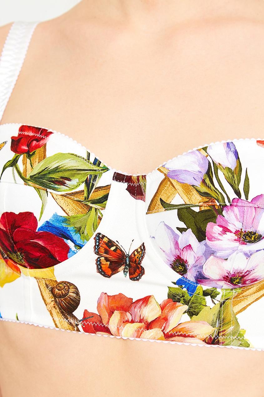 Топ с цветочным принтом