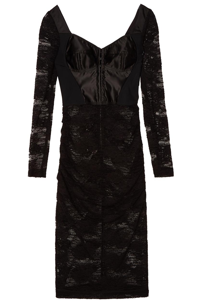Dolce&Gabbana Кружевное платье с корсетной вставкой кружевное платье миди 40 44