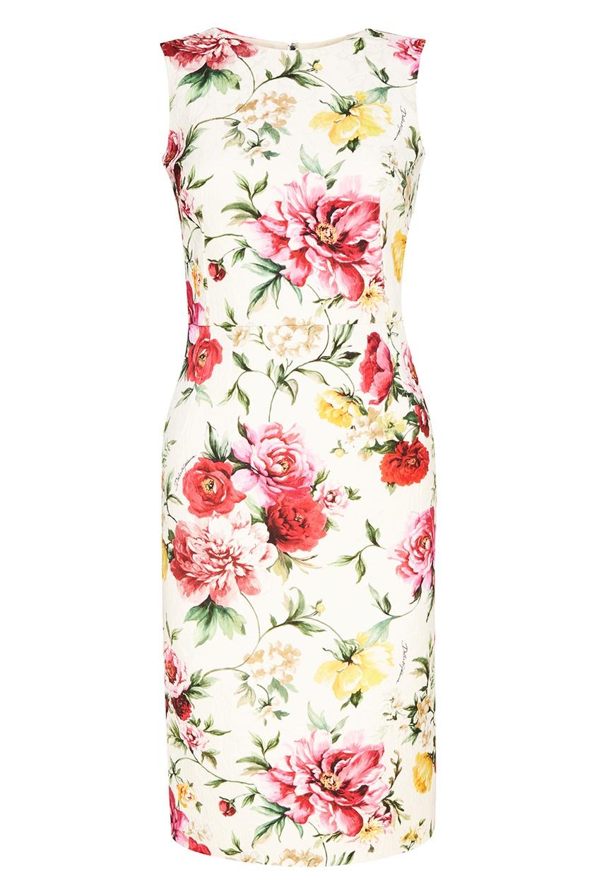 Dolce&Gabbana Платье с цветочным принтом платье с цветочным принтом