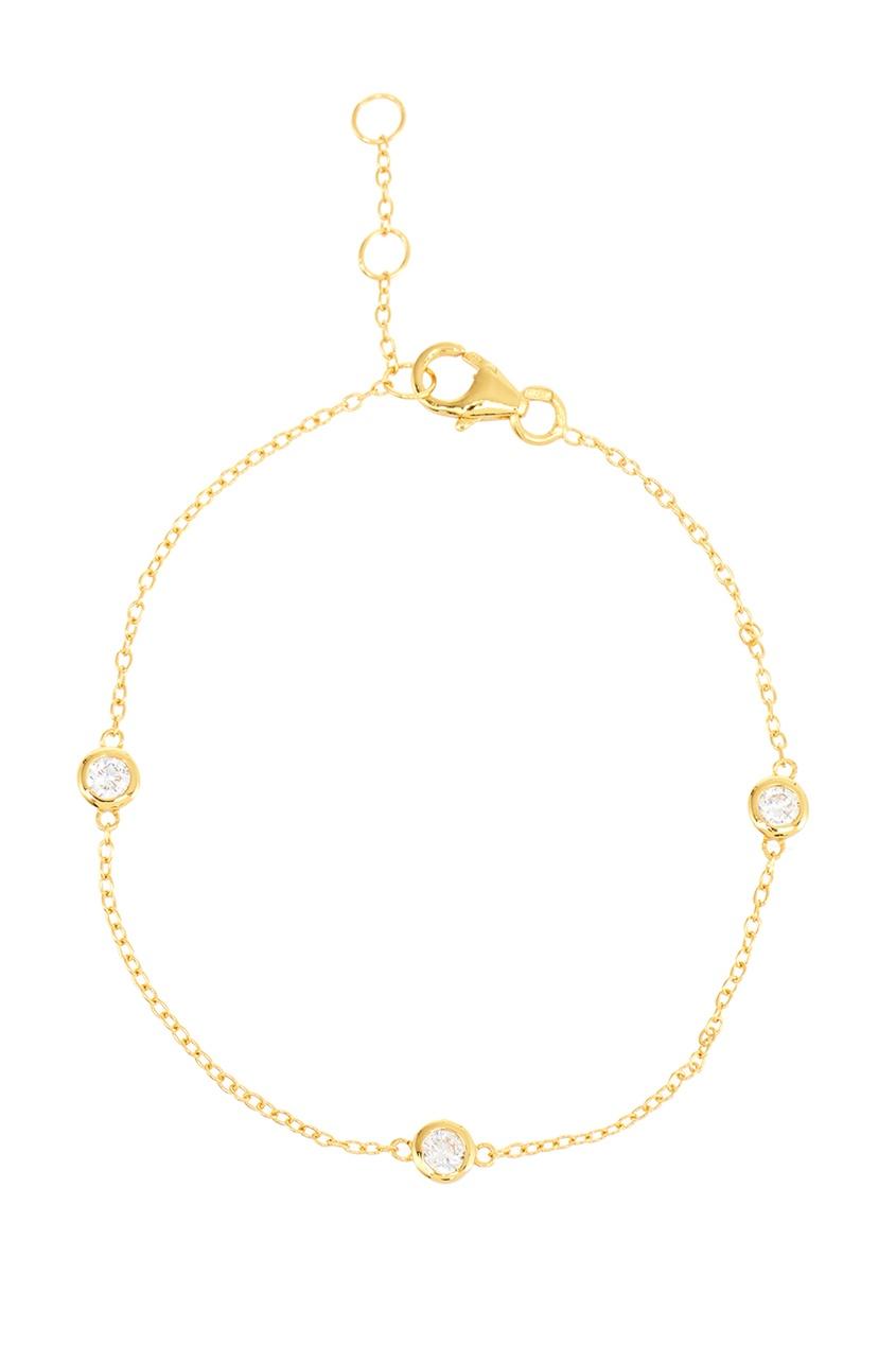 Exclaim Серебряный браслет с круглыми кристаллами exclaim браслет цепочка серебряный с подвесками