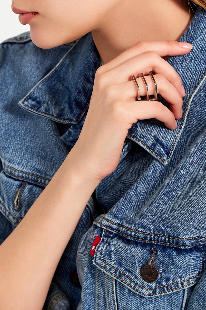 Belki Rings Серебряное кольцо Three