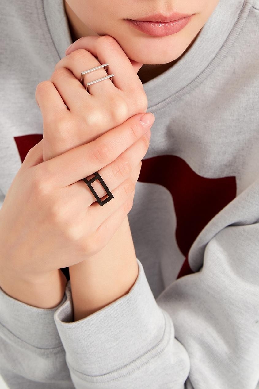 Belki Rings Черное кольцо Two кольцо yc size6 14 8 rings