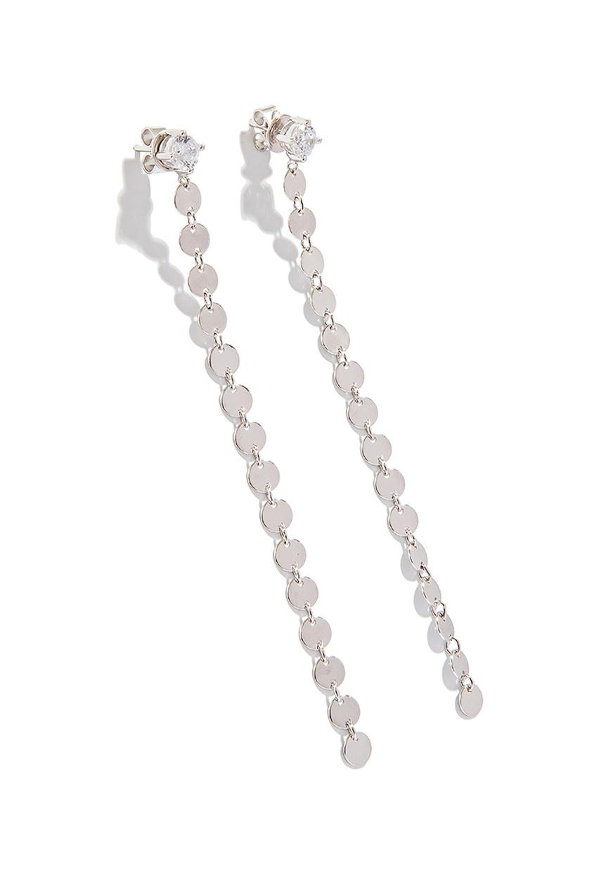 Exclaim Длинные серебряные серьги с какой застежкой купить серьги