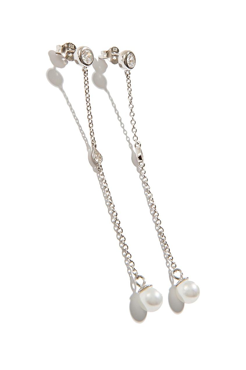 Exclaim Серьги с жемчужинами и кристаллами exclaim подвеска pearls посеребрение