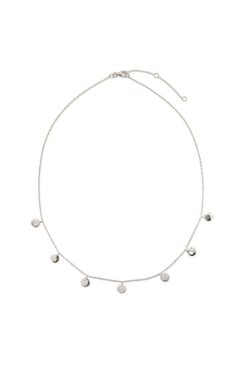 Серебряное колье с круглыми кулонами Exclaim