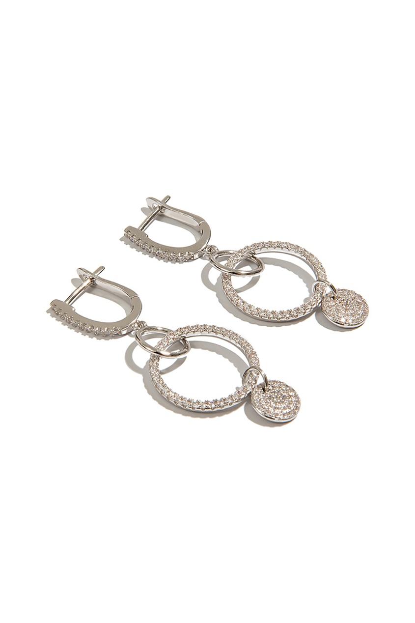 Exclaim Серьги с круглыми подвесками серьги с подвесками эстет серебряные серьги с куб циркониями и пластиком est01с2510678 10z