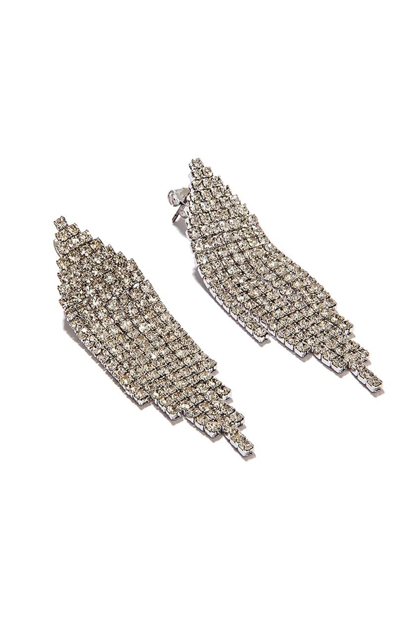 Exclaim Блестящие серьги с подвесками серьги с подвесками jv серебряные серьги с ониксами куб циркониями и позолотой or 3644 a ox 001 pink
