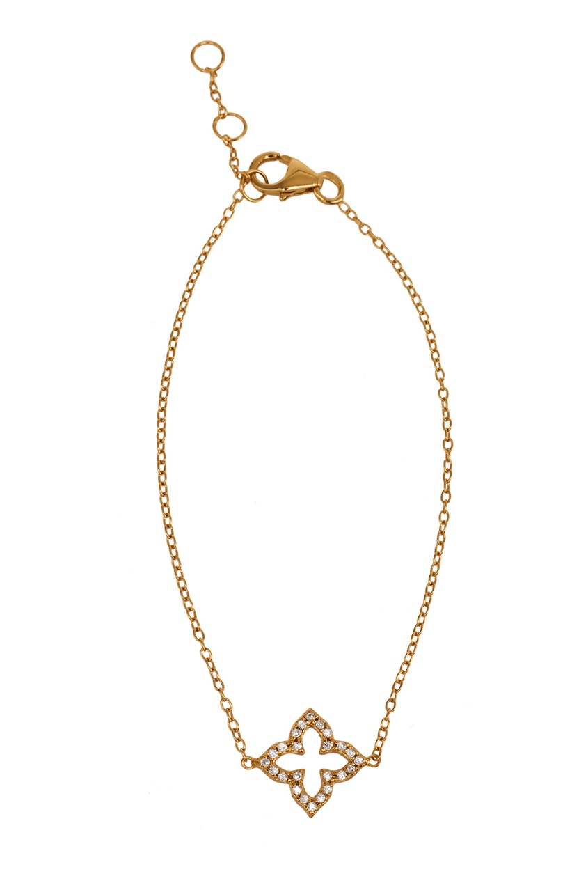 Exclaim Золотистый браслет-цепочка с подвеской exclaim серебряное колье цепочка с подвеской