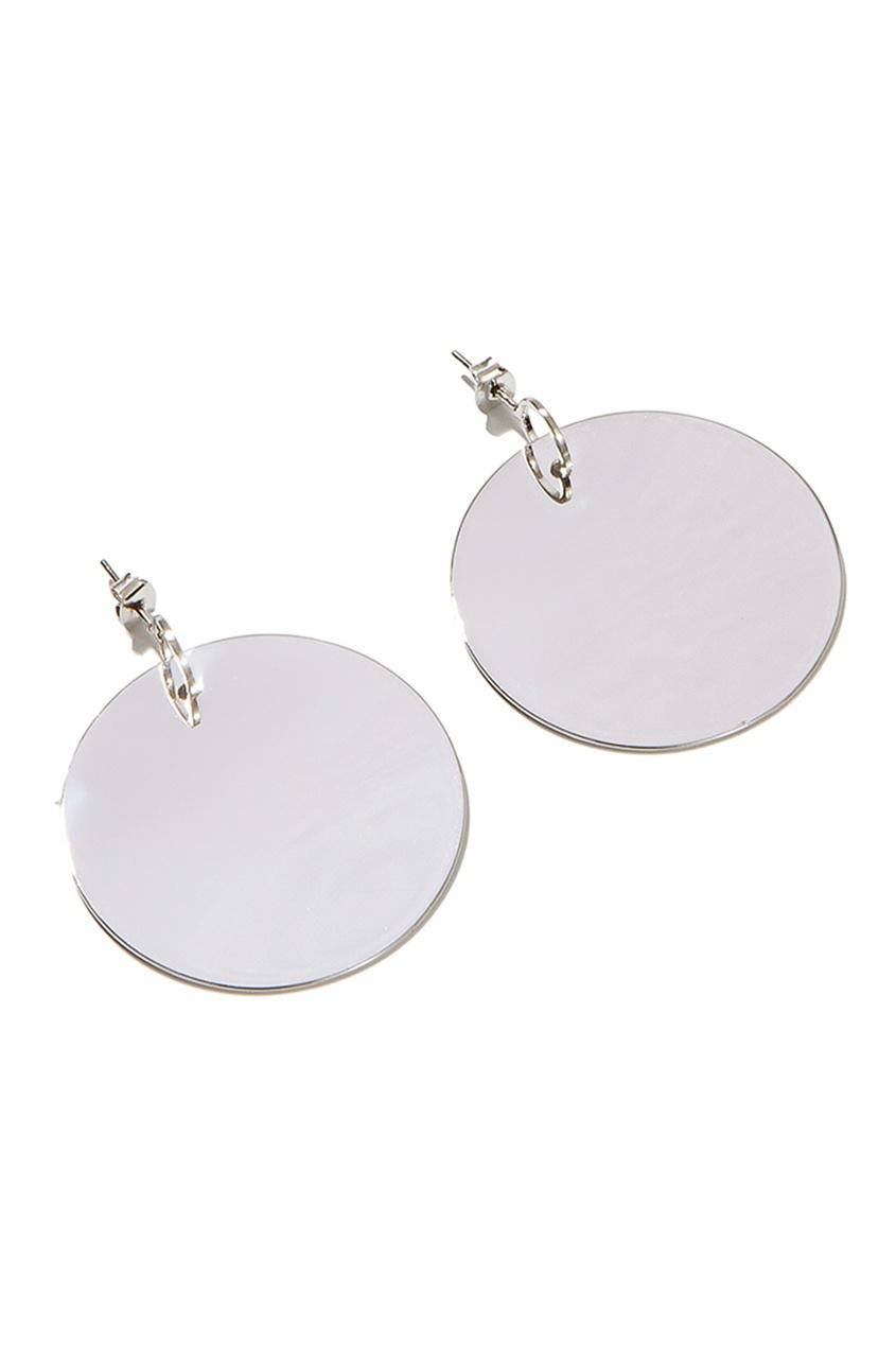 Exclaim Серьги с подвесками в виде диска серьги с подвесками эстет серебряные серьги с куб циркониями и пластиком est01с2510678 10z