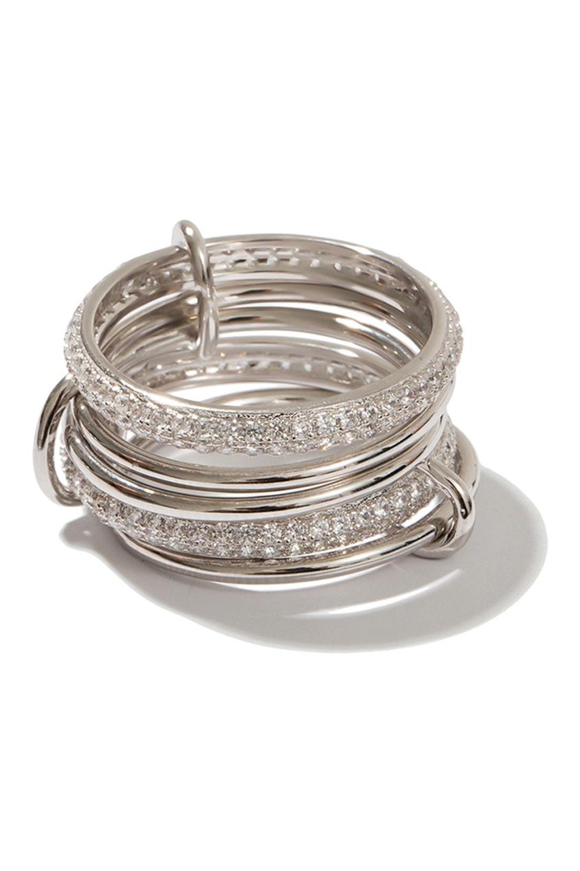 Exclaim Составное серебряное кольцо