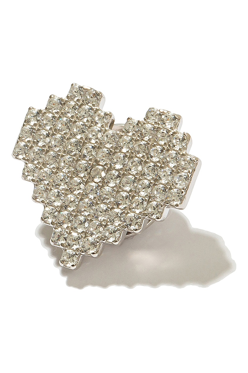 Exclaim Брошь в виде сердца с кристаллами брошь композиция