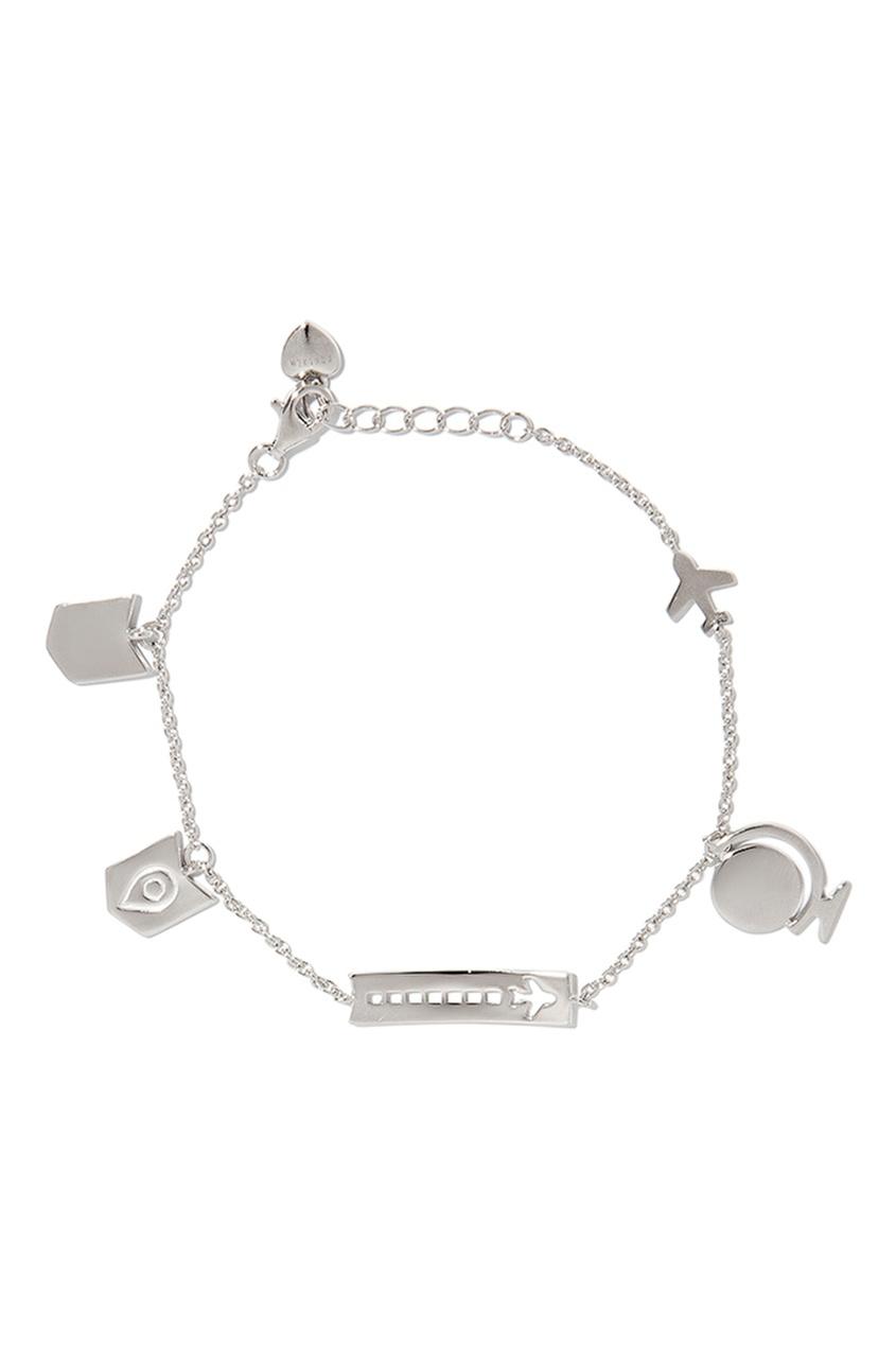 Exclaim Браслет с фигурными подвесками браслеты exclaim легкий браслет цепочка с миниатюрными цирконами