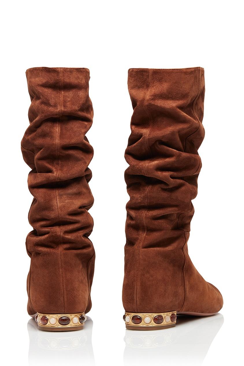 Коричневые сапоги Wyatt Boot Flat Aquazzura