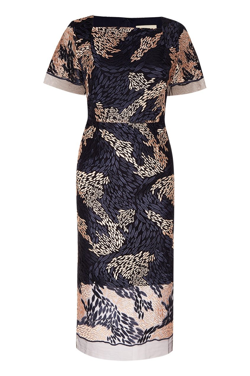 Biryukov Платье с абстрактной вышивкой платье с вышивкой