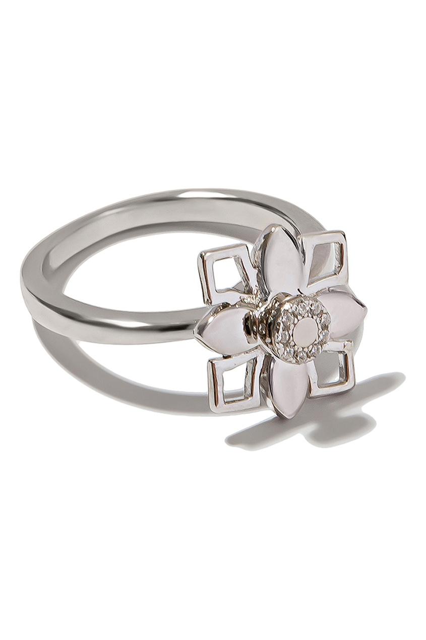 Exclaim Кольцо с цветочной композицией
