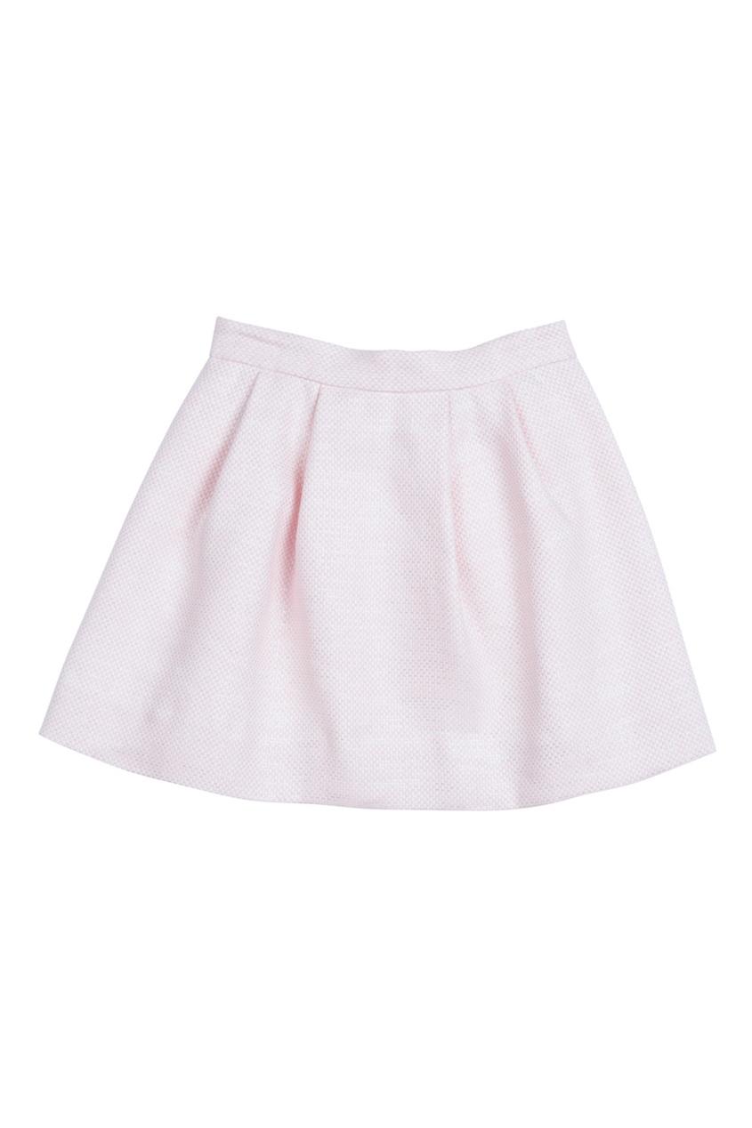 Жаккардовая розовая юбка AGATHA
