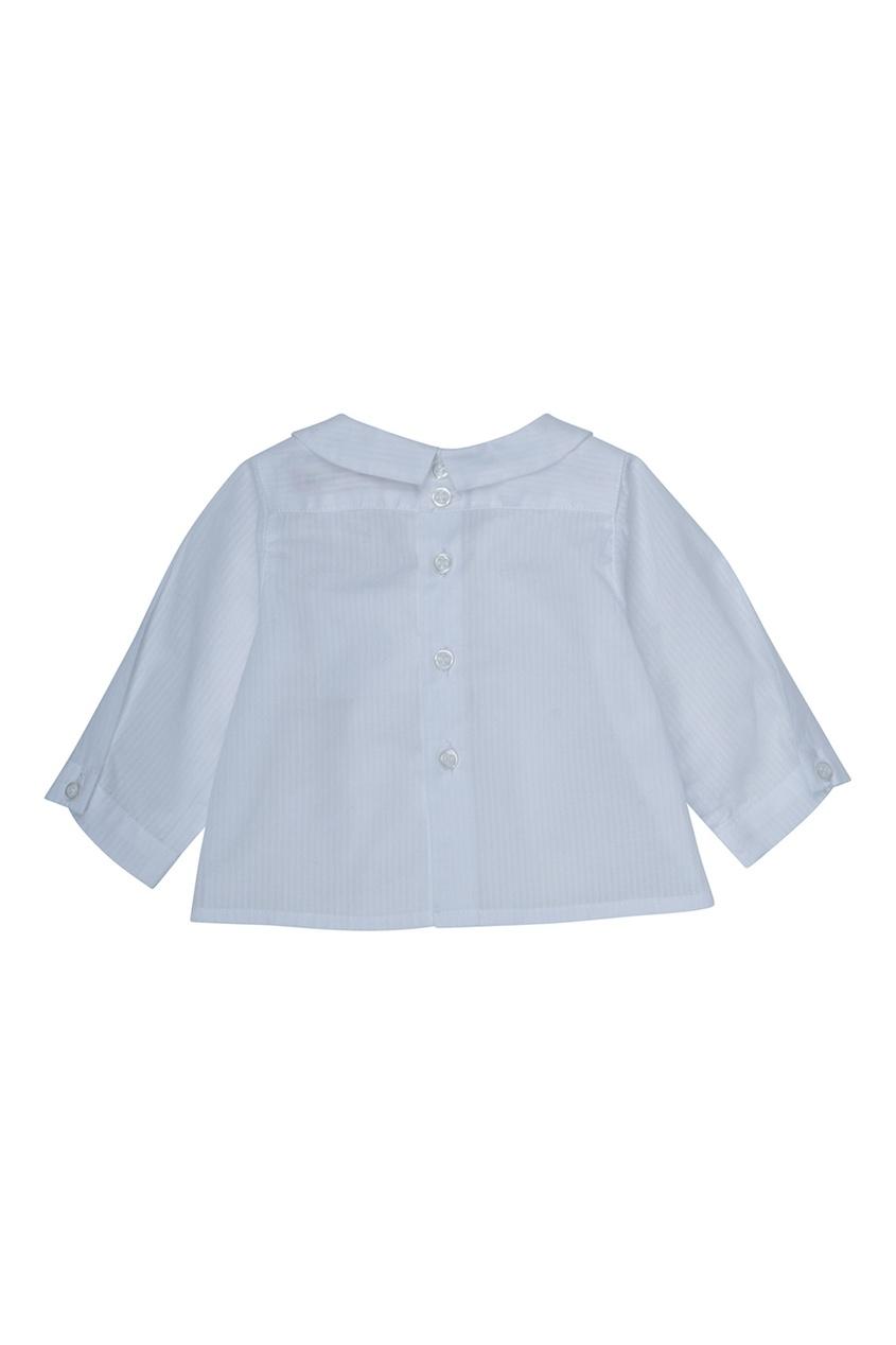Bonpoint Хлопковая белая рубашка AQUARELLE