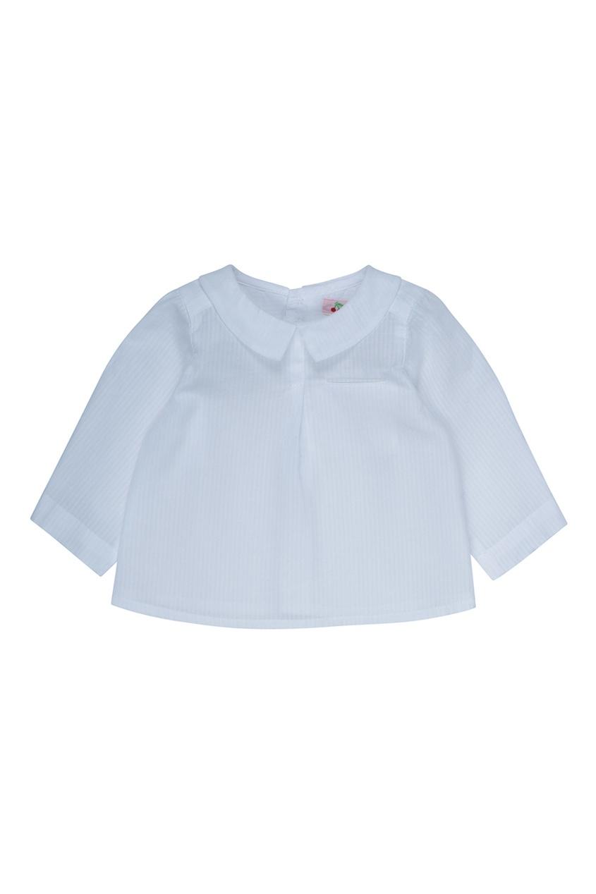 Bonpoint Хлопковая белая рубашка AQUARELLE осенние новый пиджак обрезанное корейской версии новый осенний износ тонкая белая рубашка леди рукава белая рубашка
