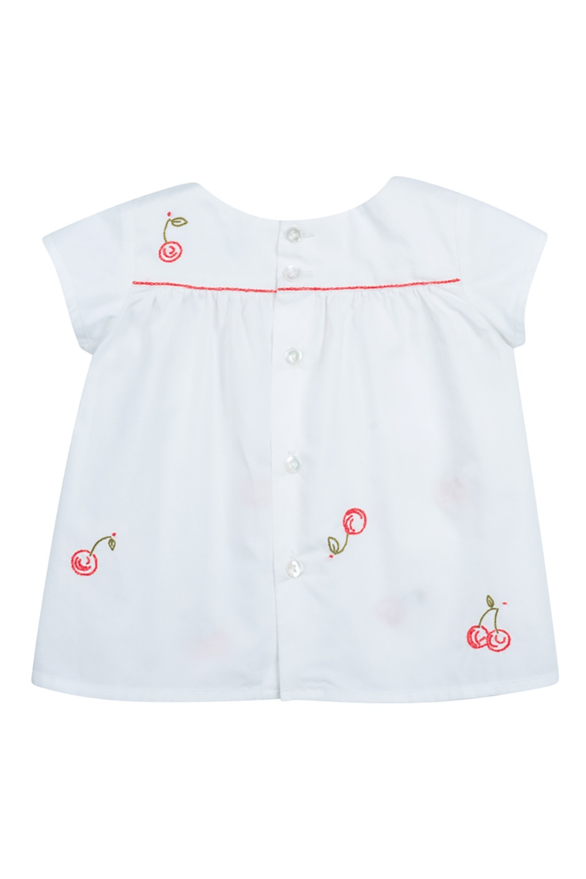 Bonpoint Белая блузка ARLI блуза figl блузы с коротким рукавом