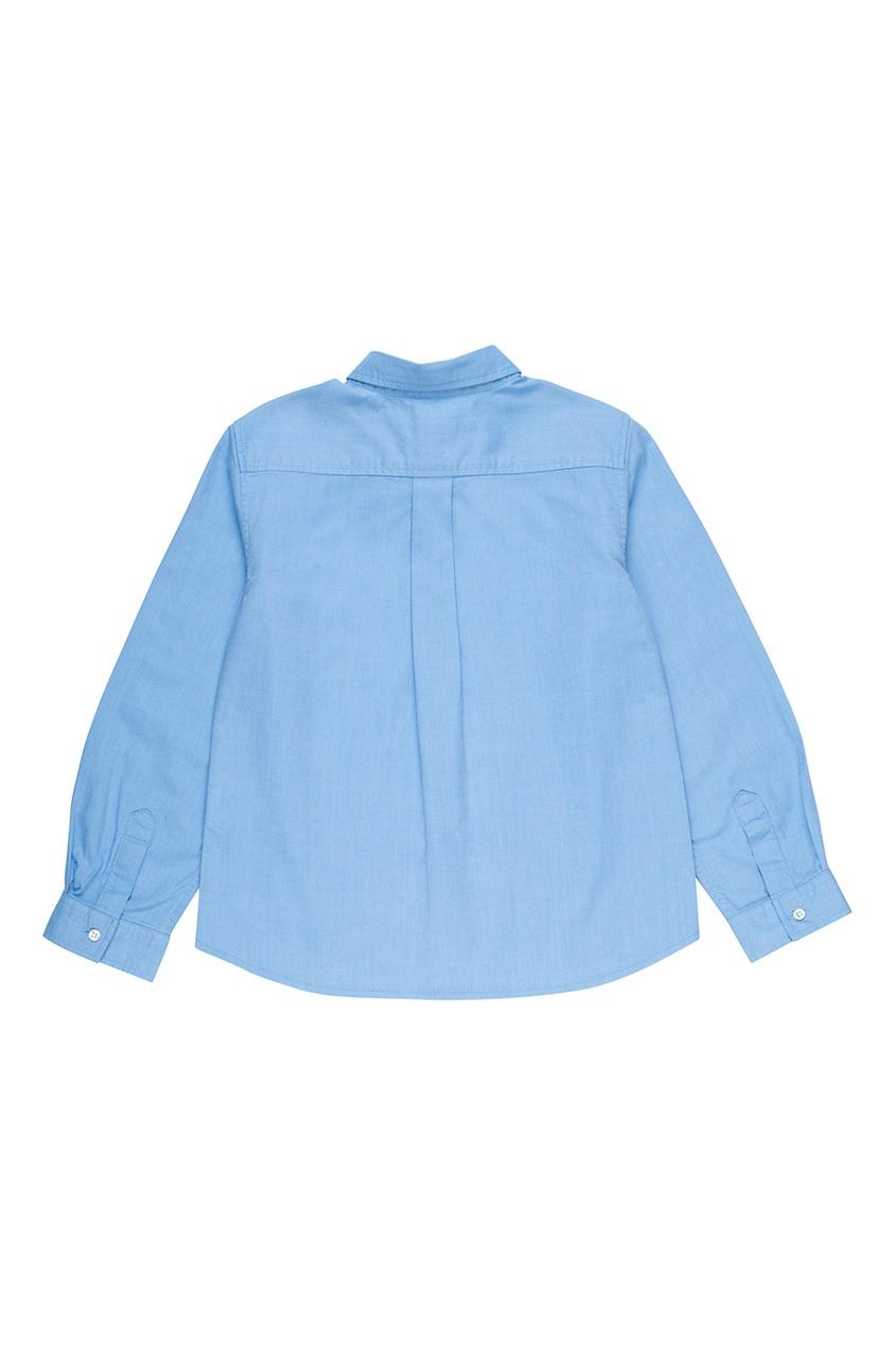 Bonpoint Голубая хлопковая рубашка ACTEUR