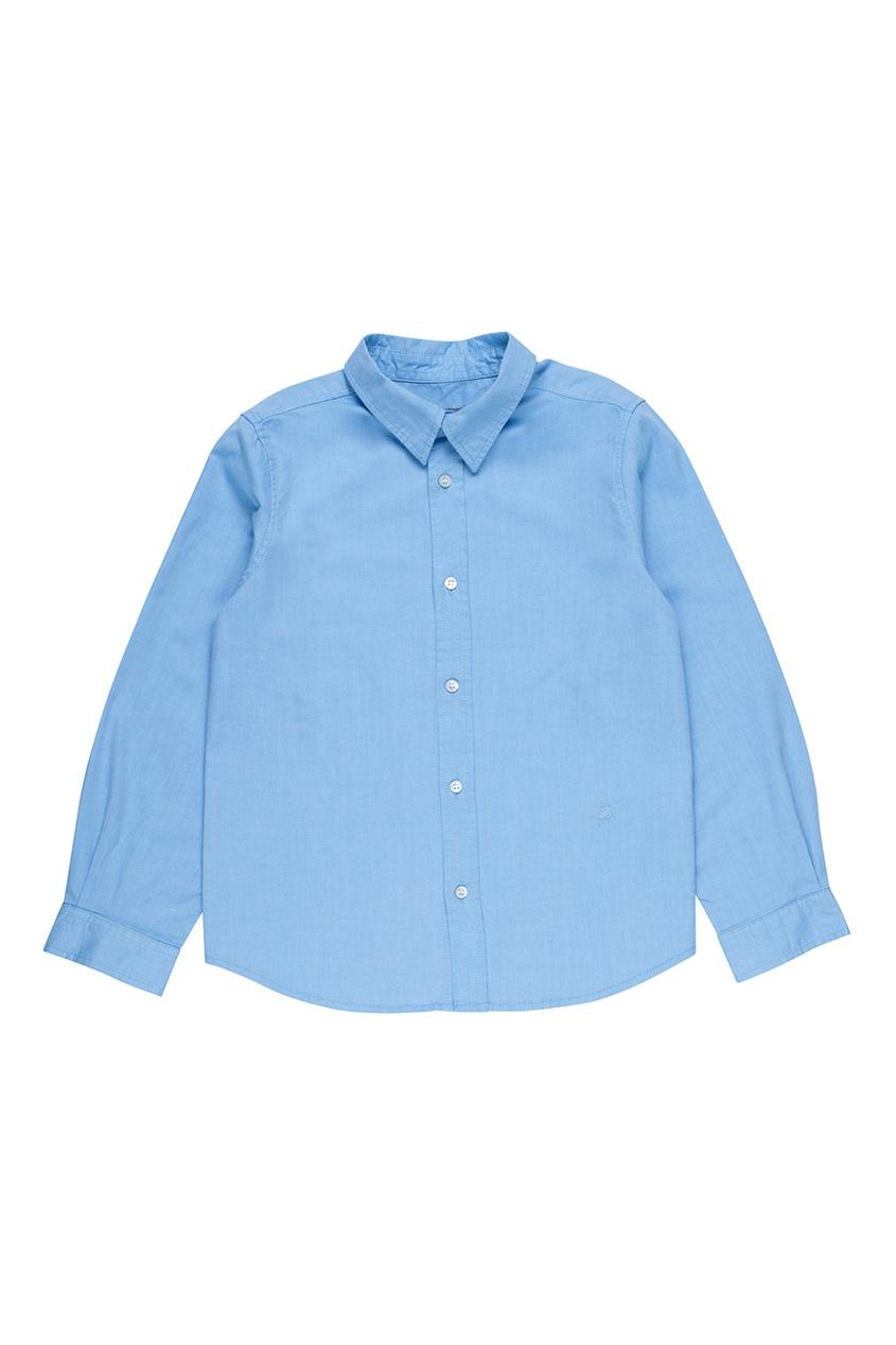Купить со скидкой Голубая хлопковая рубашка ACTEUR