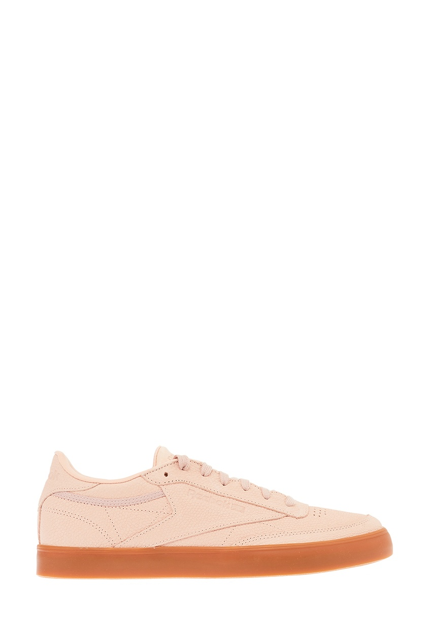 Розовые кожаные кроссовки Club C 85 FVS PS Desert