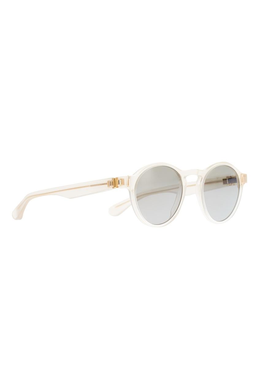 Круглые очки в прозрачной оправе