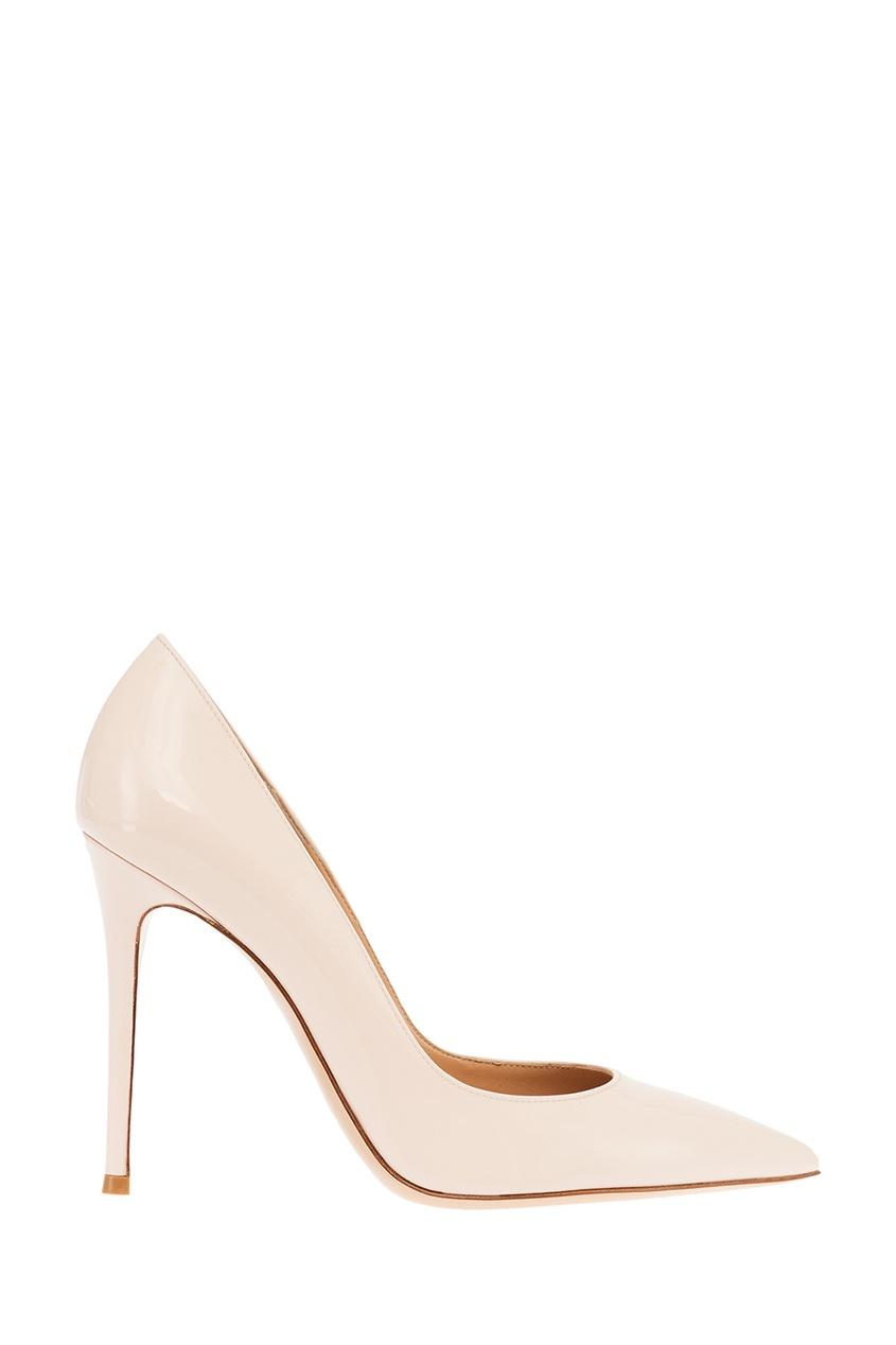 Gianvito Rossi Белые лакированные туфли Gianvito 105 gianvito rossi кожаные босоножки