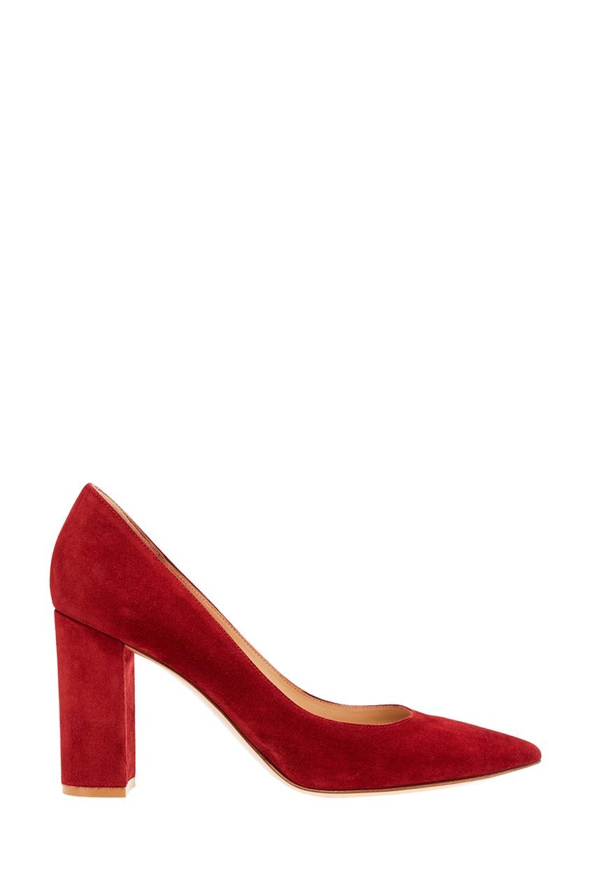 Gianvito Rossi Красные замшевые туфли