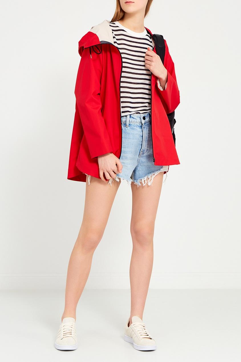 Max Mara Красная ветровка с капюшоном пуловер weekend max mara weekend max mara we017ewtmi15