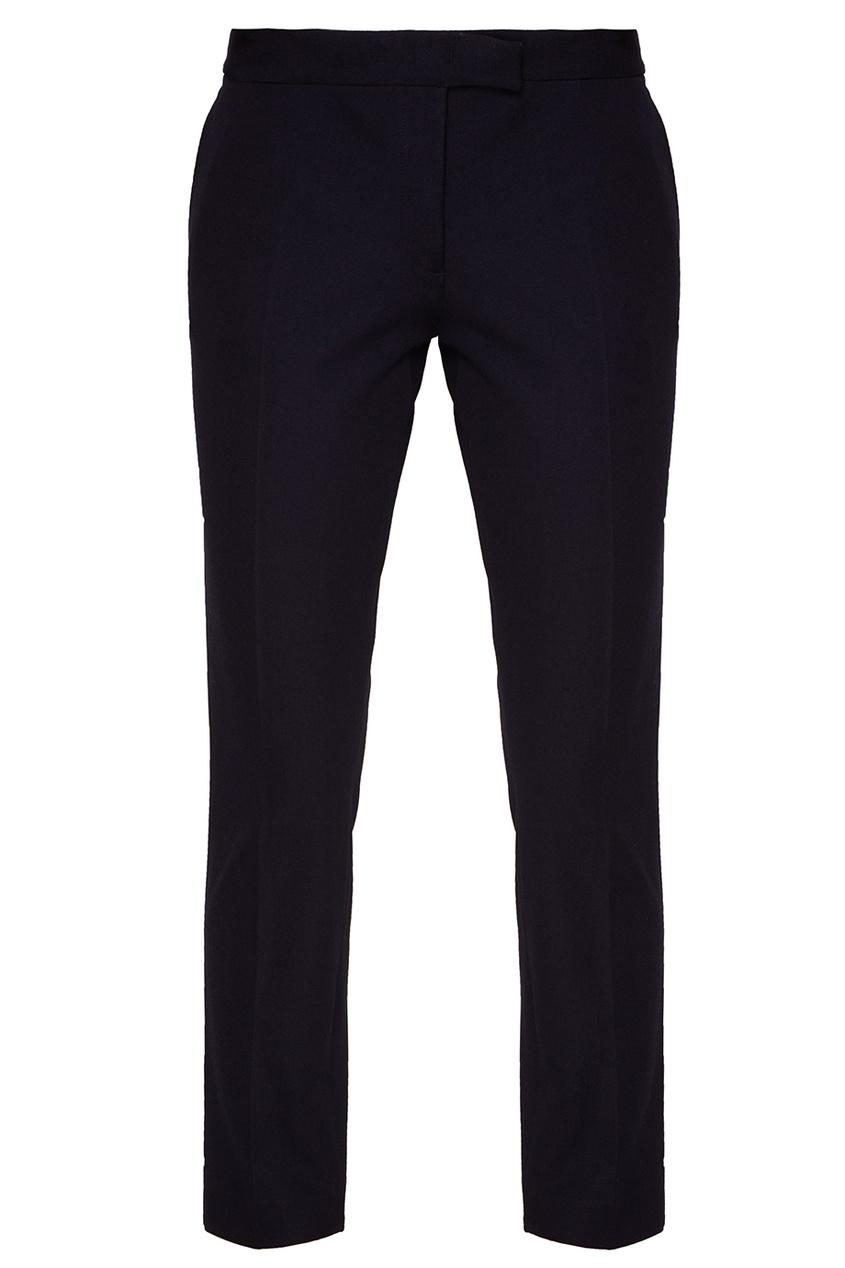 Синие хлопковые брюки-чинос
