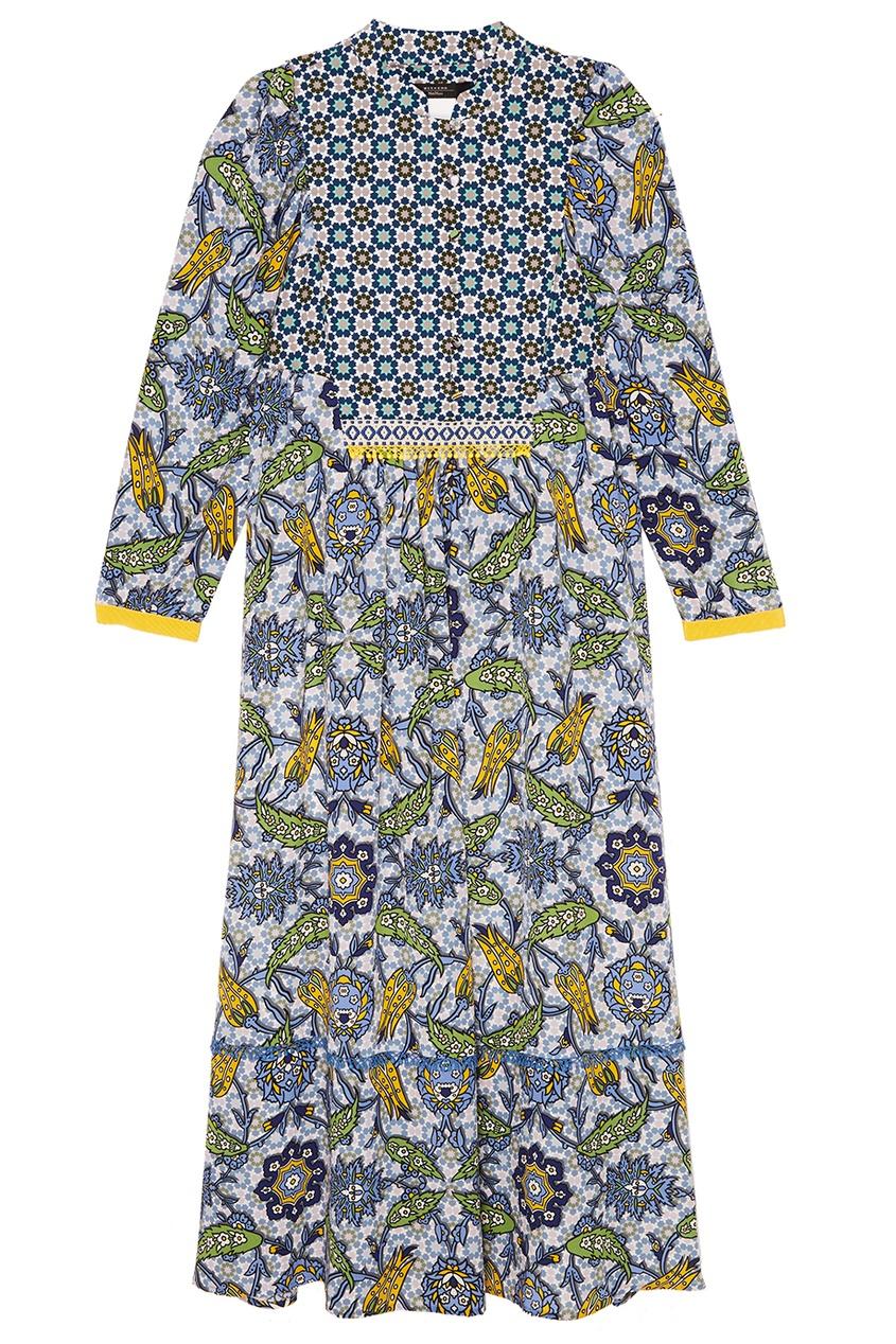 Max Mara Weekend Платье-миди с комбинированным принтом комплект платьев полуприлегающее платье прилегающее платье max mara платья и сарафаны приталенные