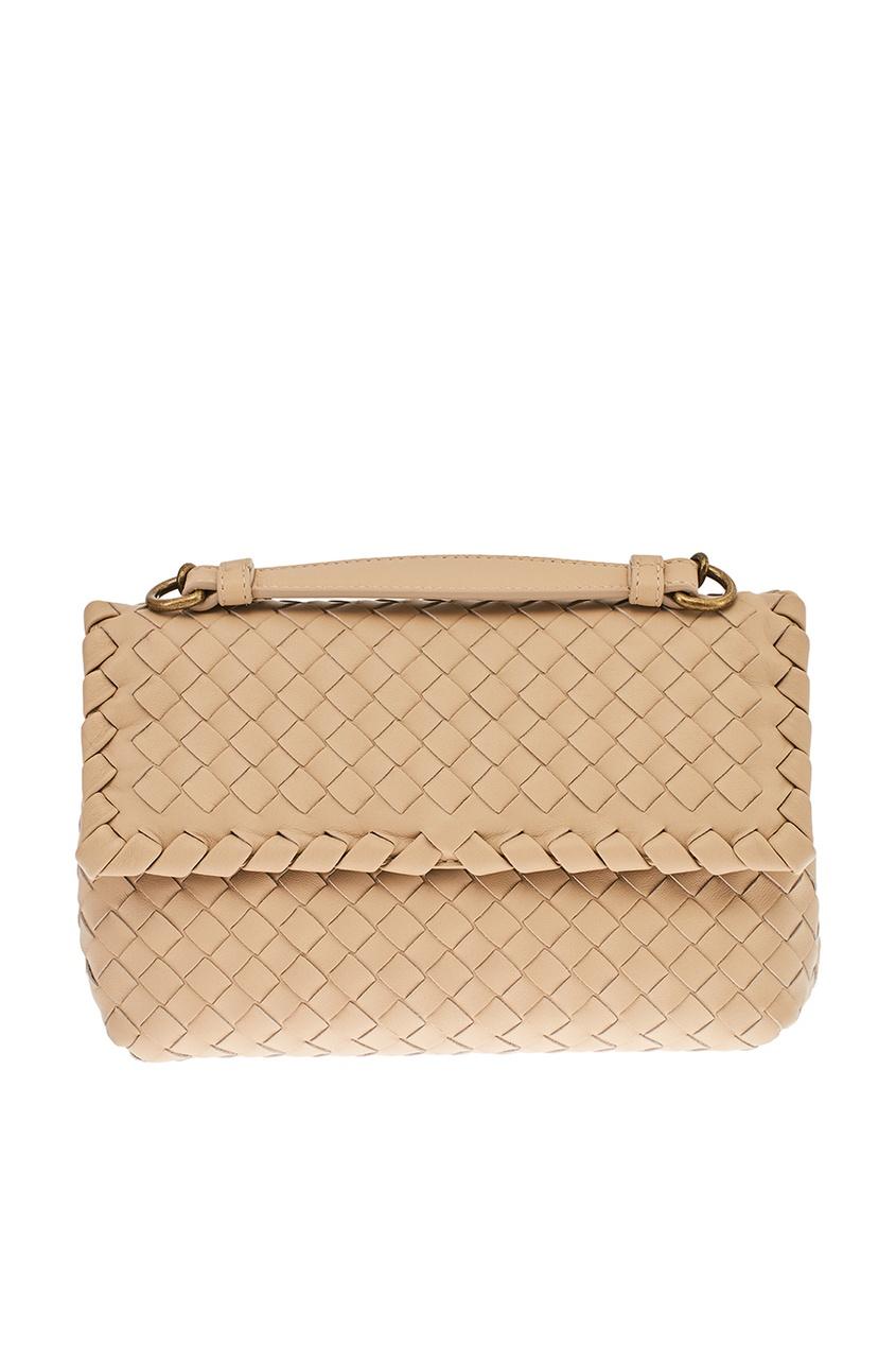 Bottega Veneta Кожаная плетеная сумка Olimpia сумка bottega veneta 45207744ht 2015