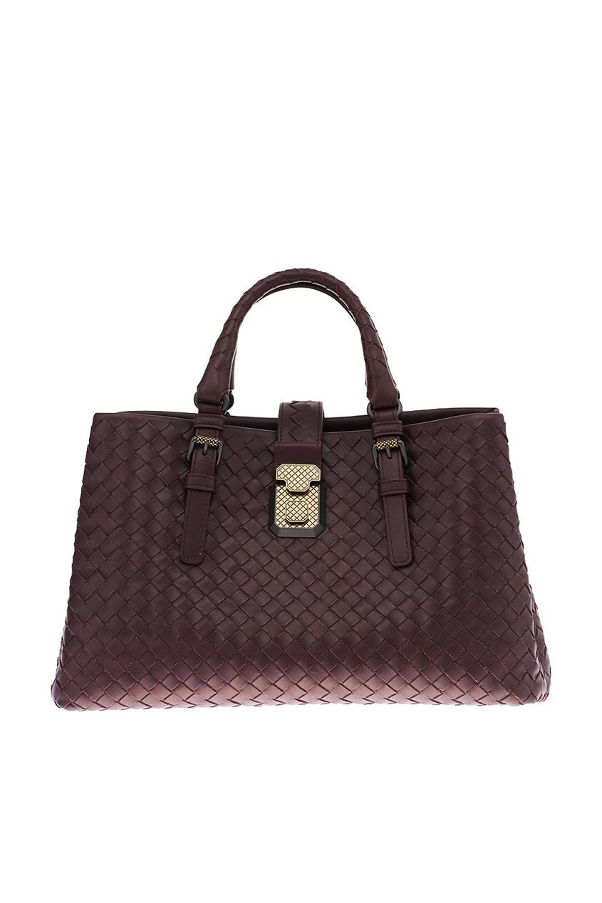Bottega Veneta Бордовая плетеная сумка Roma ручки оконные с замком в москве