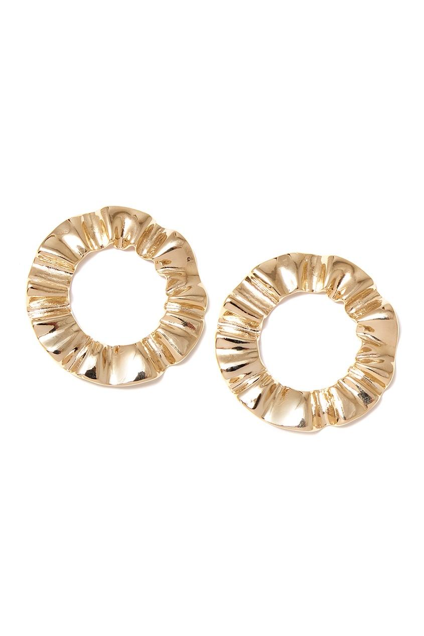 Lisa Smith Круглые золотистые серьги конфеты круглые с ромом купить в иркутске