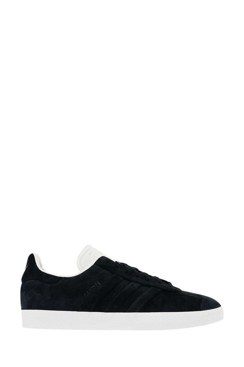 Adidas Черные замшевые кроссовки Gazelle Stitch and Turn adidas замшевые кроссовки campus stitch and turn