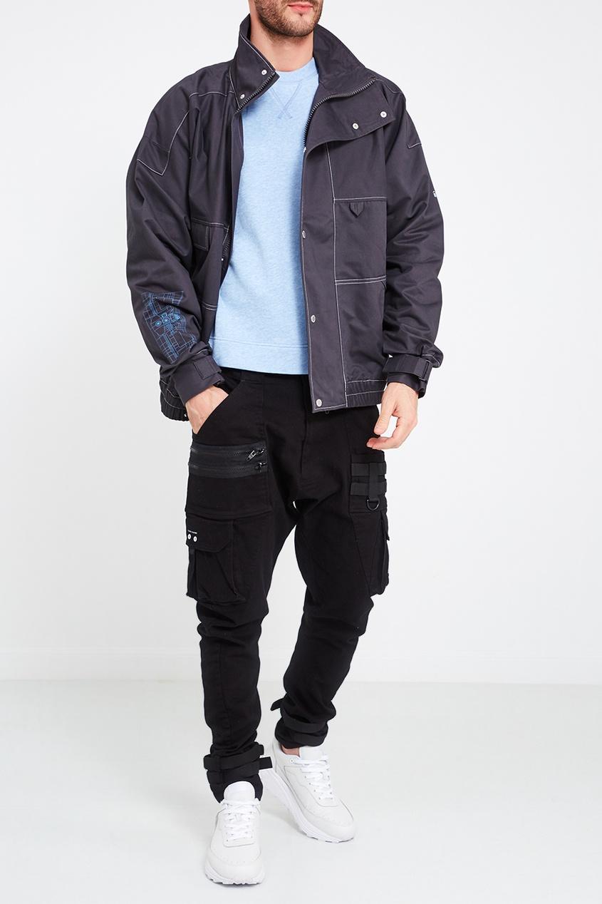 C2H4 Серая хлопковая куртка с карманами ай ши  oiwas  моды случайные сумка сумка