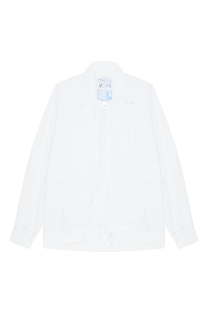 C2H4 Белая ветровка с карманами футболка белая с принтом ido ут 00004169