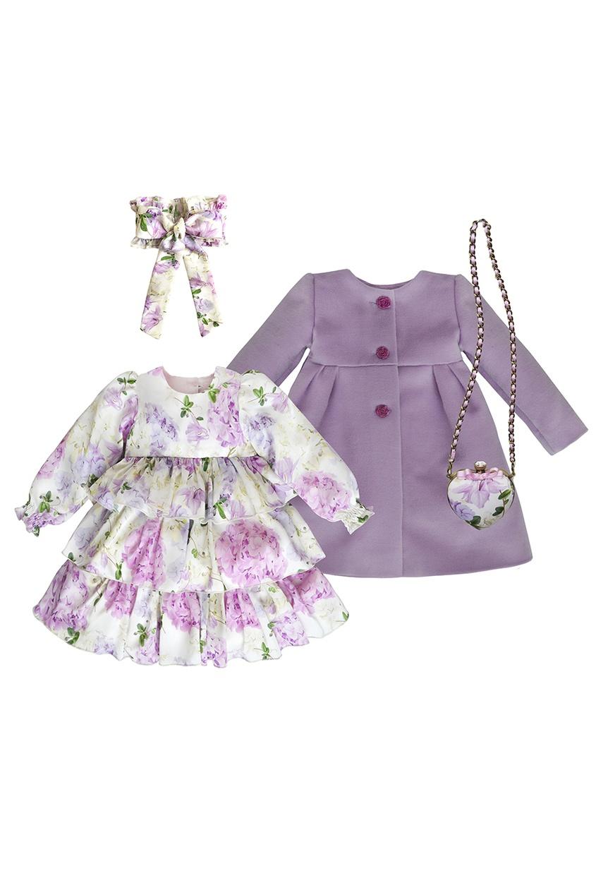 SASHA Petit Gâteau Комплект с платьем и пальто «Гортензия»