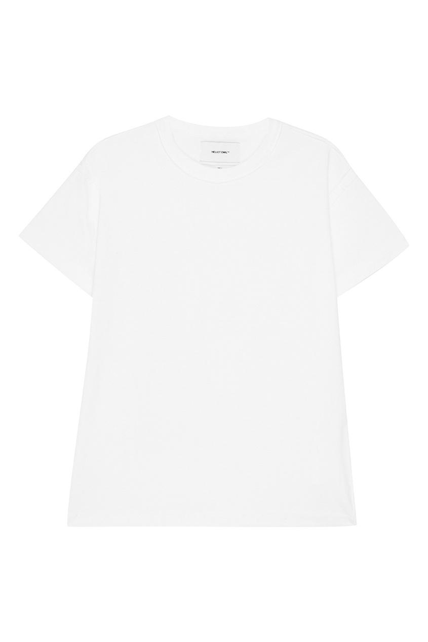 Heliot Emil Белая футболка из хлопка ялу простого сплошного цвета джинсы мужского бизнеса мужчины талия прямые случайные джинсы темно синий 1907 32
