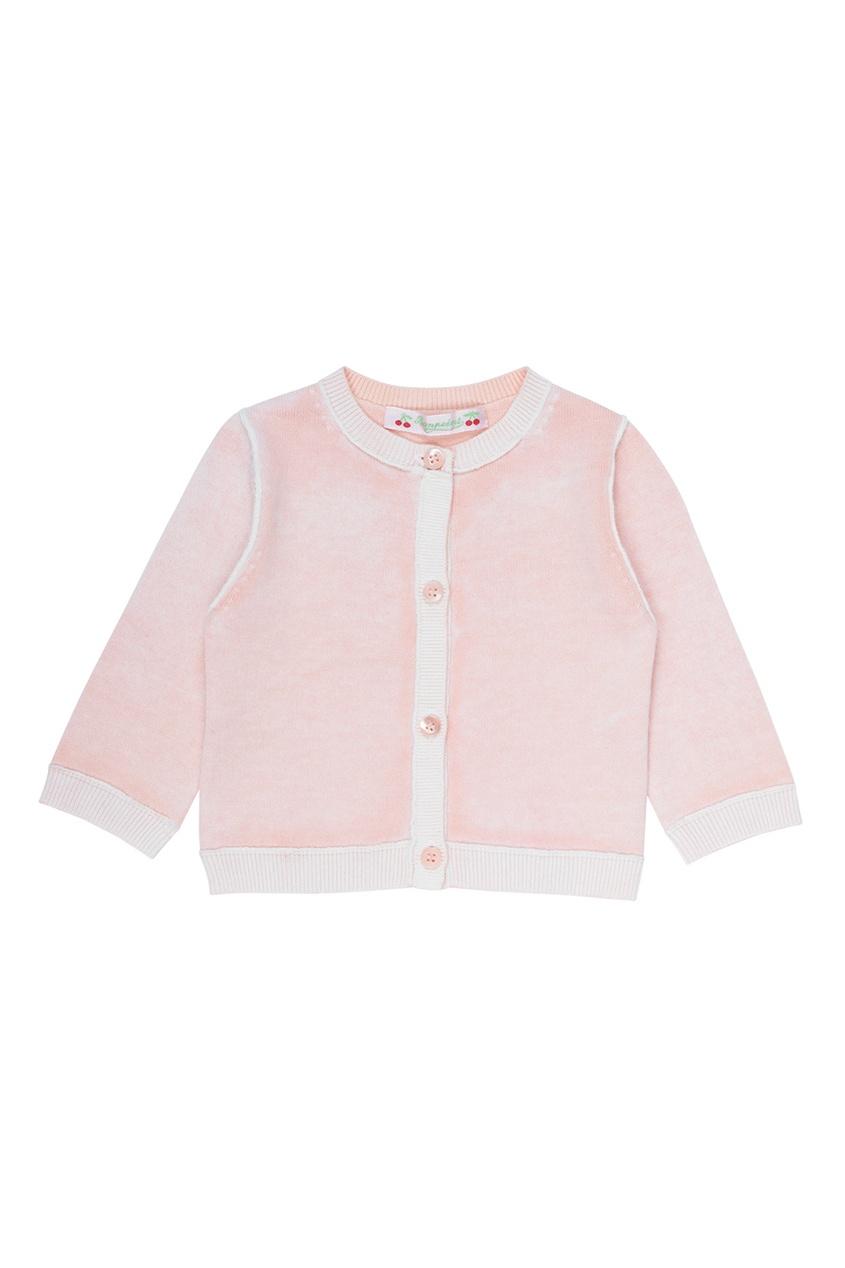 Bonpoint Розовый хлопковый кардиган