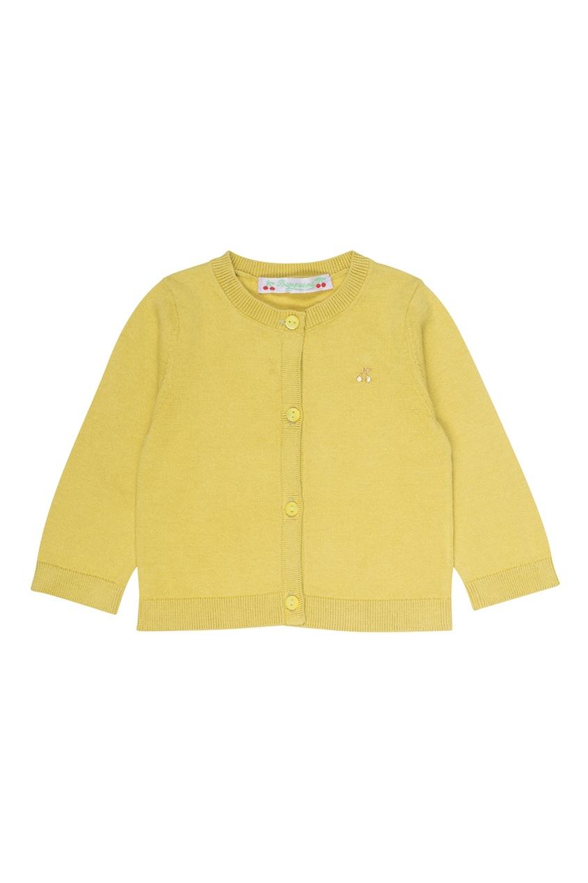 Желтый хлопковый кардиган