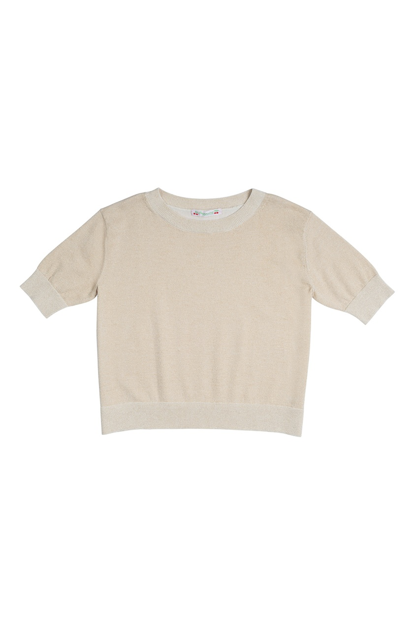 Bonpoint Хлопковый пуловер с люрексом пуловер