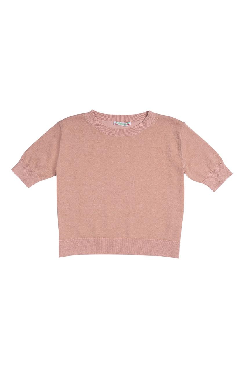 Хлопковый пуловер с люрексом