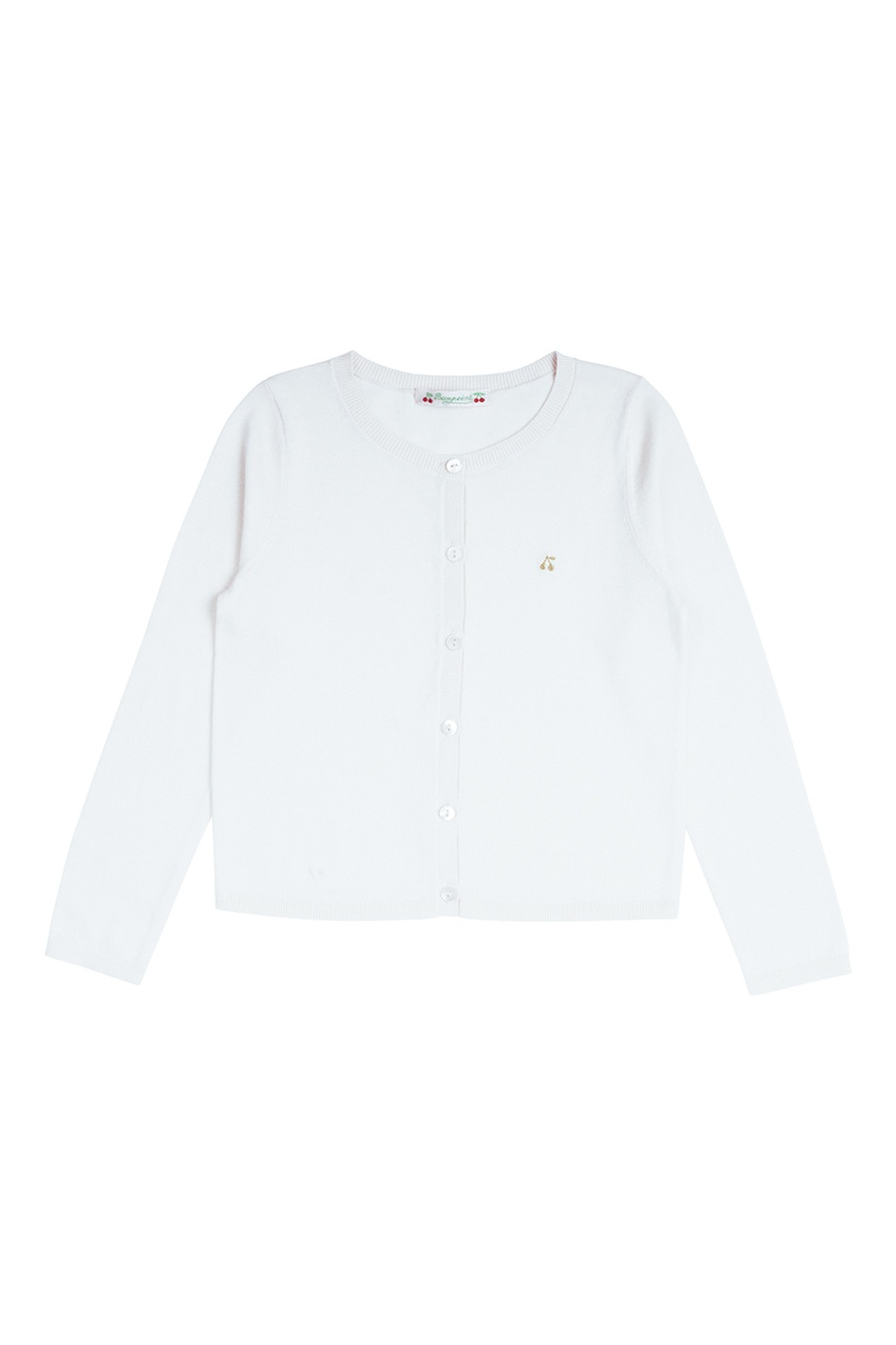 Bonpoint Хлопковый кардиган белого цвета