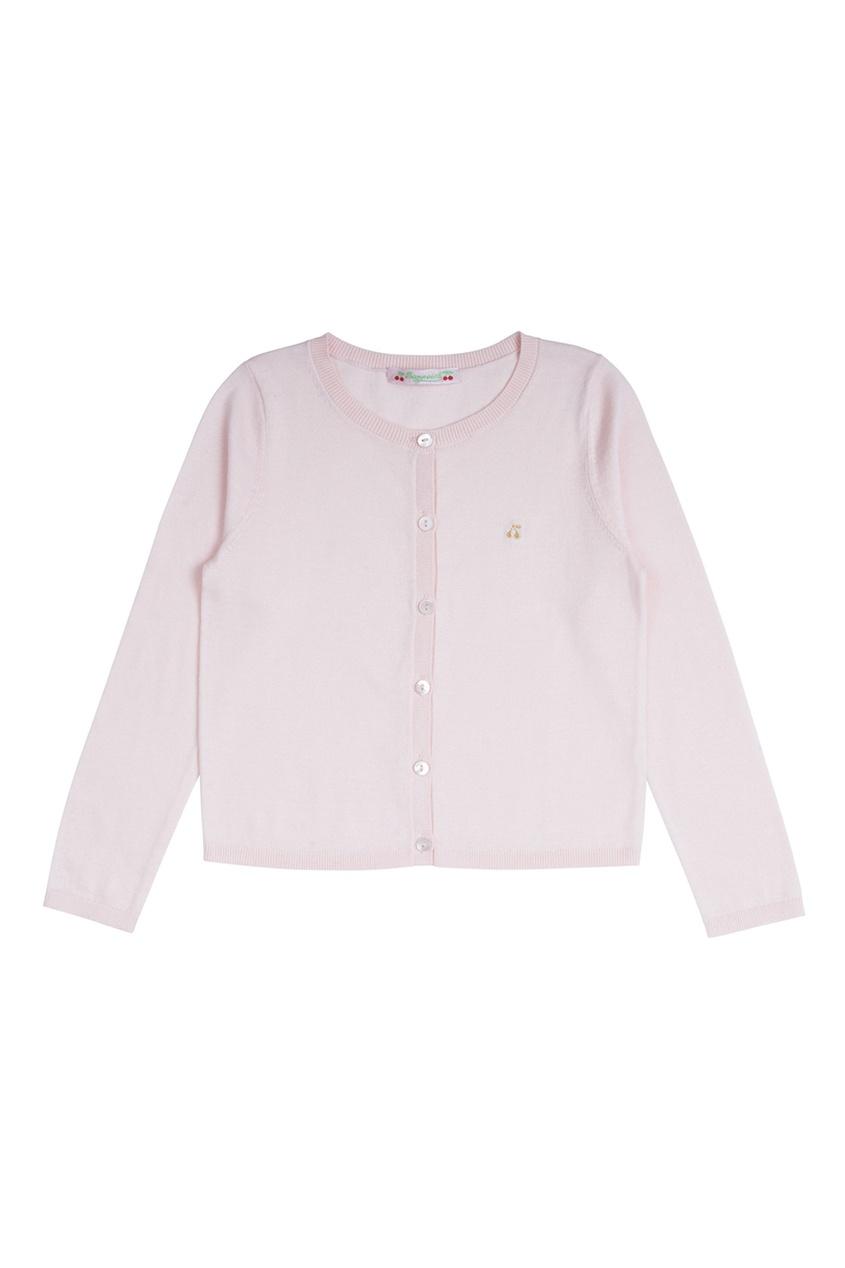 Хлопковый кардиган бледно-розового цвета