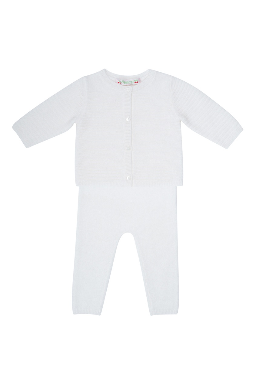 Bonpoint Белый кашемировый комплект bonpoint шарф серый кашемировый