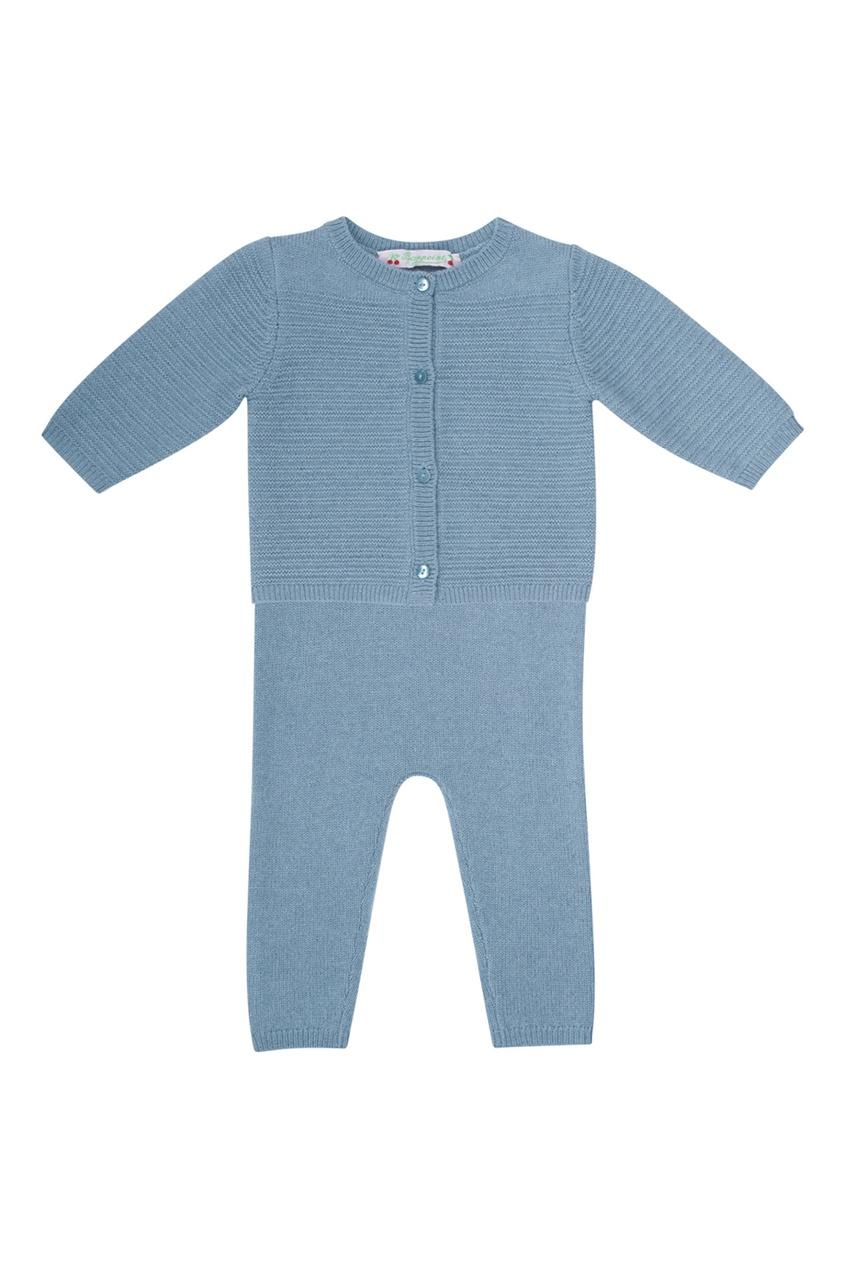 Bonpoint Синий кашемировый комплект bonpoint шарф серый кашемировый