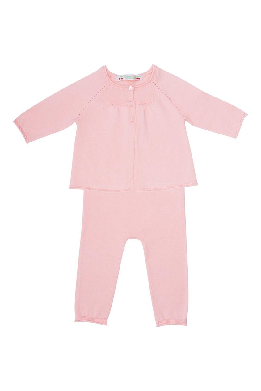 Розовый хлопковый комплект Bonpoint